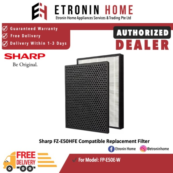 Sharp FP-E50HFE Compatible Replacement HEPA and Carbon Filters for FP-E50E-W Singapore
