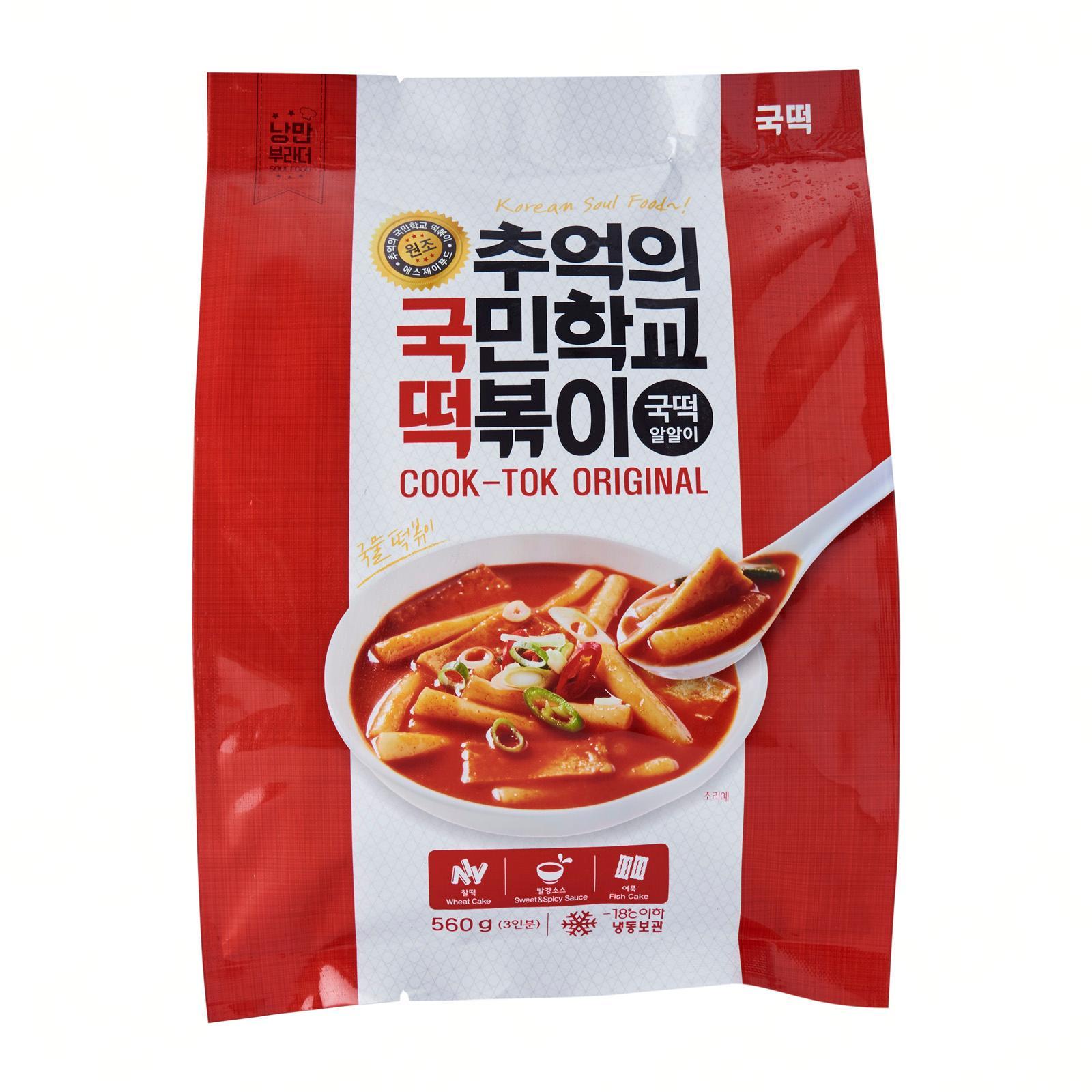 Cook-Tok Korean Spicy Rice Cake (Topokki) Original