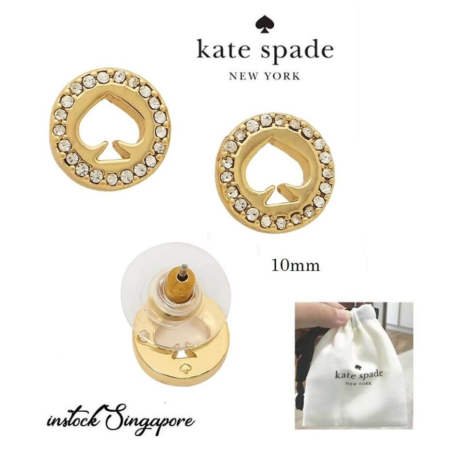 b4e1a5bc40fd Authentic Kate Spade Spot The Spade Pave Halo Spade Studs Earrings
