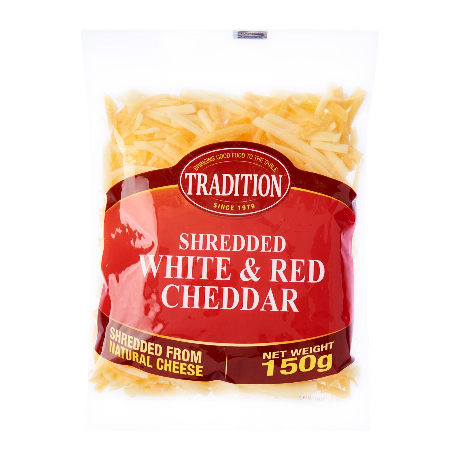 Tradition Shredded White And Red Cheddar