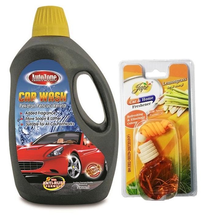 JAPE CAR & HOME FRESHENER 9ML + Autozone Car Wash 2 Litres