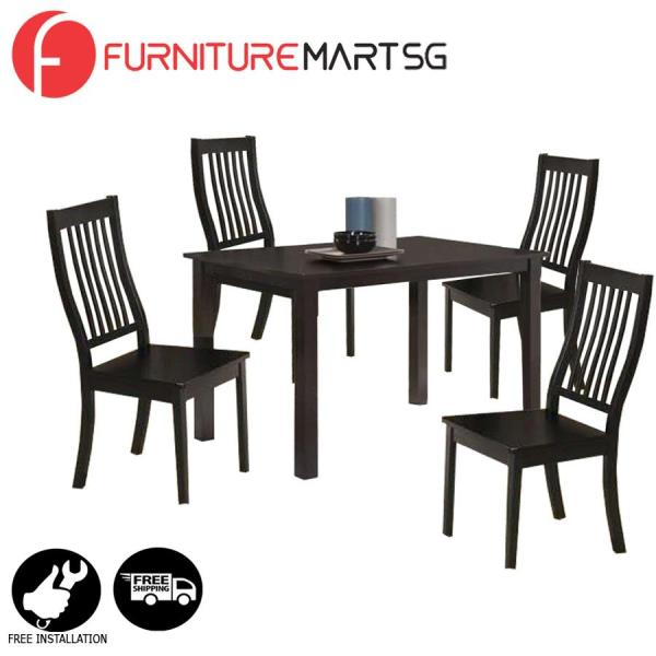 [FurnitureMartSG] Woody Dining Set 1+4 FREE DELIVERY + FREE INSTALLATION