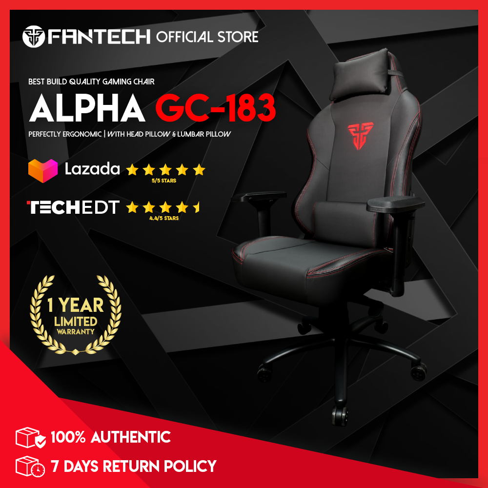 [Fantech Singapore] ALPHA GC-183 Gaming Chair / Best Build Quality / Perfectly Ergonomic / With Head Pillow & Lumbar Pillow / Multi-Functional Tilt Mechanism