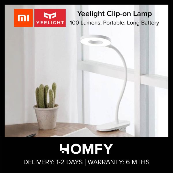 Xiaomi Yeelight YLTD10YL, 5W LED, USB Rechargeable, Clip-on Table Lamp, Desk Clamp Light, 100 Lumens, Touch Sensor Button, Portable Light, Long Battery Life, Suitable for Reading, Work and Study - J1 Lamp