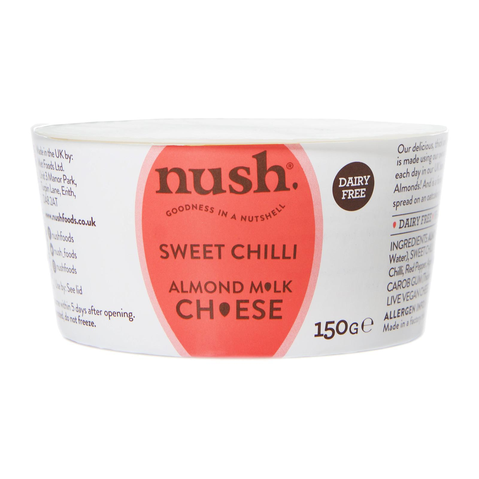 Nush Vegan Almond Cheese Style Dairy Free Spread Sweet Chilli