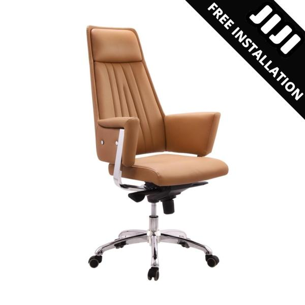 JIJI Office CEO Chair V3 (Free Installation) - (Home Office Chair) Supreme ★Leather ★Office Furniture ★Grand ★Ergonomic ★Quality / Free 12 Months Warranty (SG) Singapore