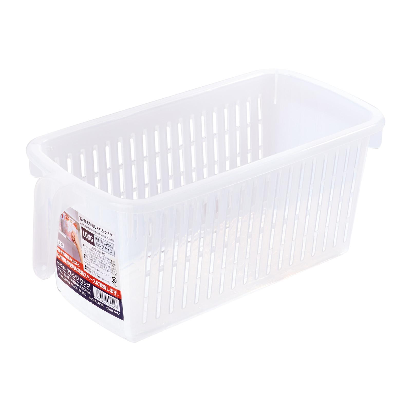 Sanada Seiko Storage Basket with Handle/Long Clear