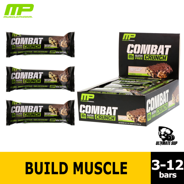 Buy MusclePharm Combat Crunch Protein Bar, Various Flavors, 3-12 bars, 63g each Singapore