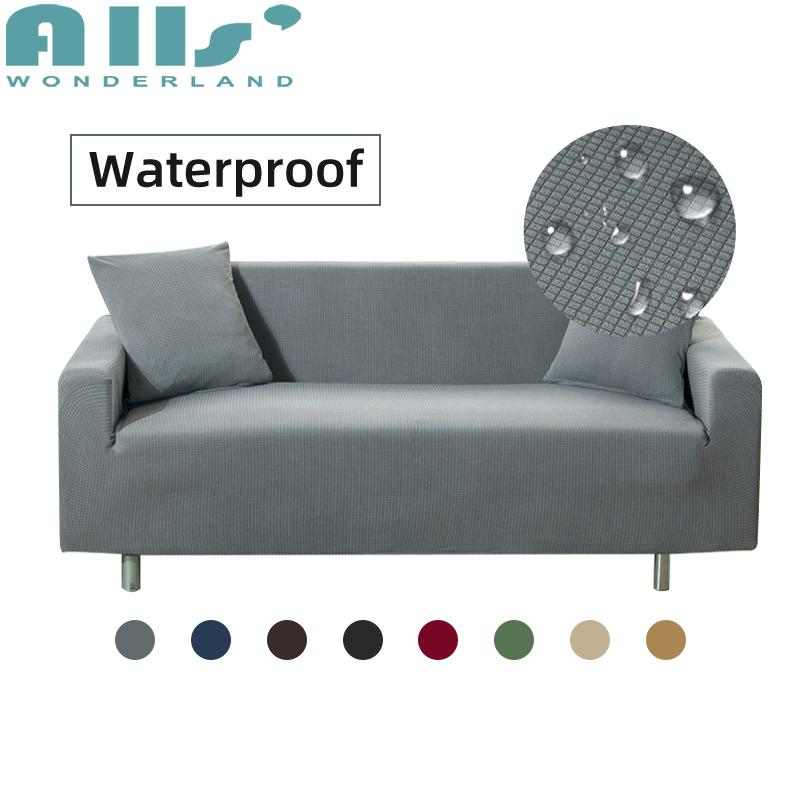 SOFA COVER 1 2 3 4 Seater Waterproof Dustproof Slipcover Single Double  Sofa Cover Solid Color Multi-sizes Multi-colors Slipcover