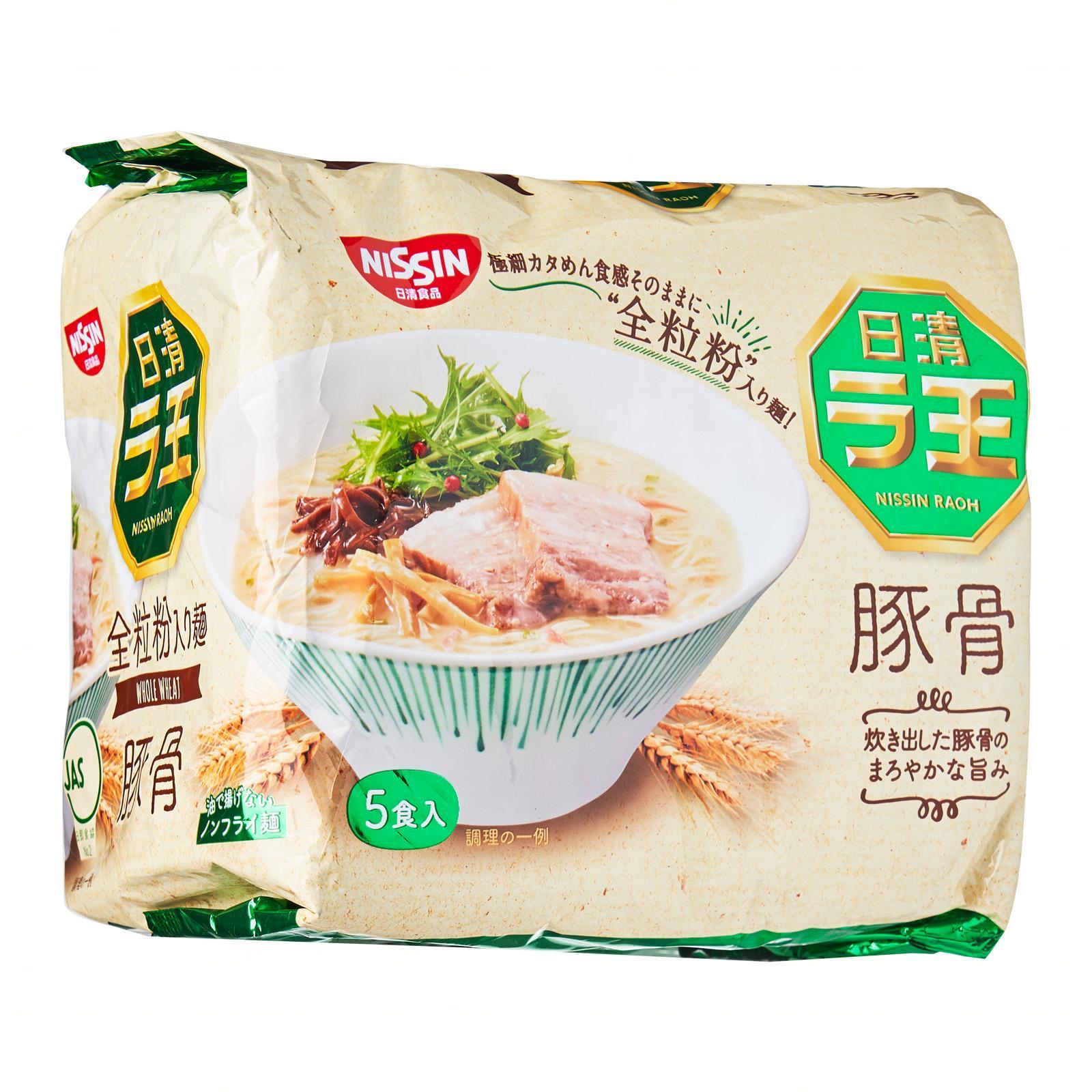 Nissin RA-OH Pork Bone Flavored Instant Ramen Noodles
