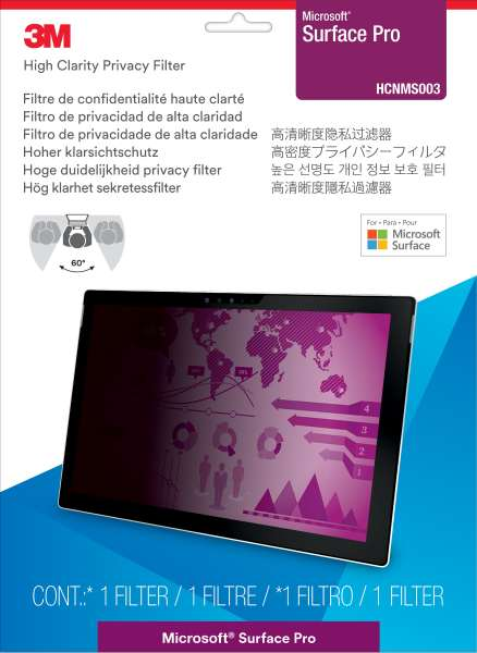 3M™ High Clarity Privacy Filter for Microsoft® Surface® Pro