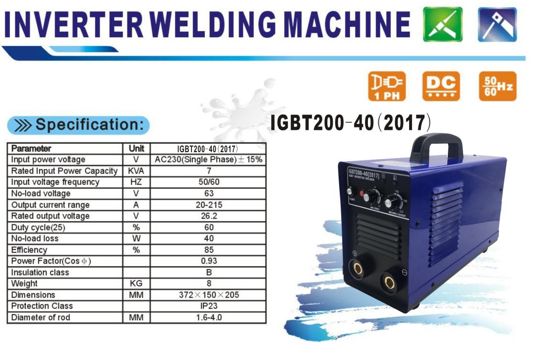 [SG Seller] IGBT200-40L Inverter Welding Machine