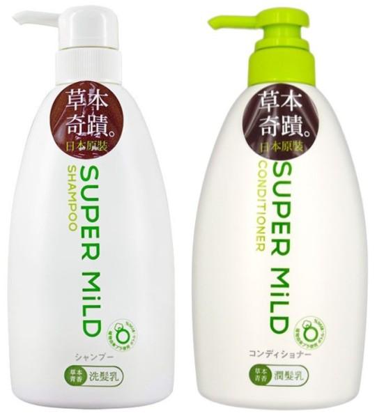 Buy SHISEIDO SUPER MILD (Bundle of 2) Shampoo + Conditioner 600ml [Green Flowers] Singapore