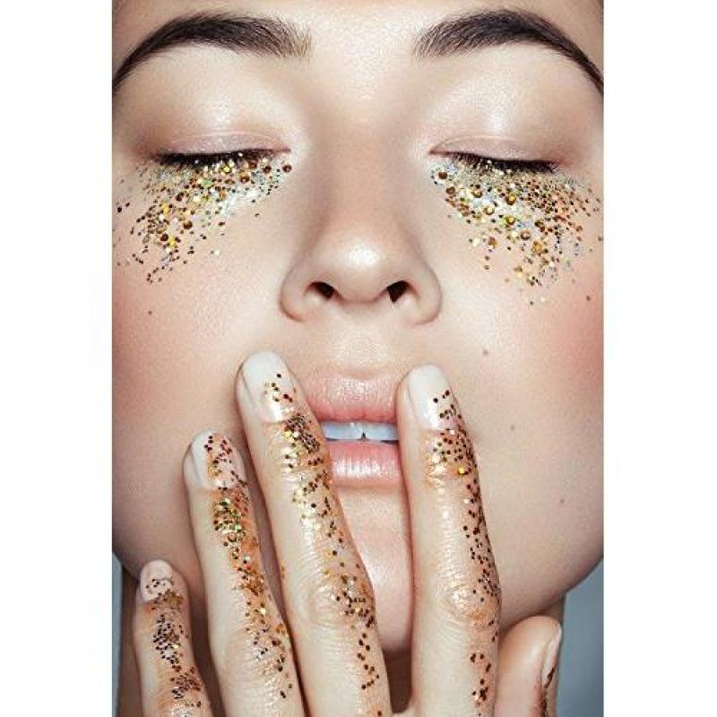Buy COKOHAPPY 8 Boxes Gold Silver Body Chunky Glitter Makeup, Holographic Flake Cosmetic Sequins Glitter, Ultra-thin Nail Art Iridescent Sparkle Mixed Glitter for Face Eye Hair Singapore