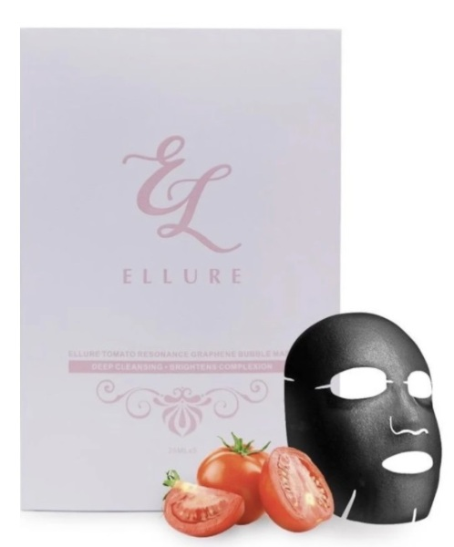 Buy Ellure Deep Cleansing Tomato Resonance Graphene Bubble Exfoliating Mask (5 masks in a box) Singapore