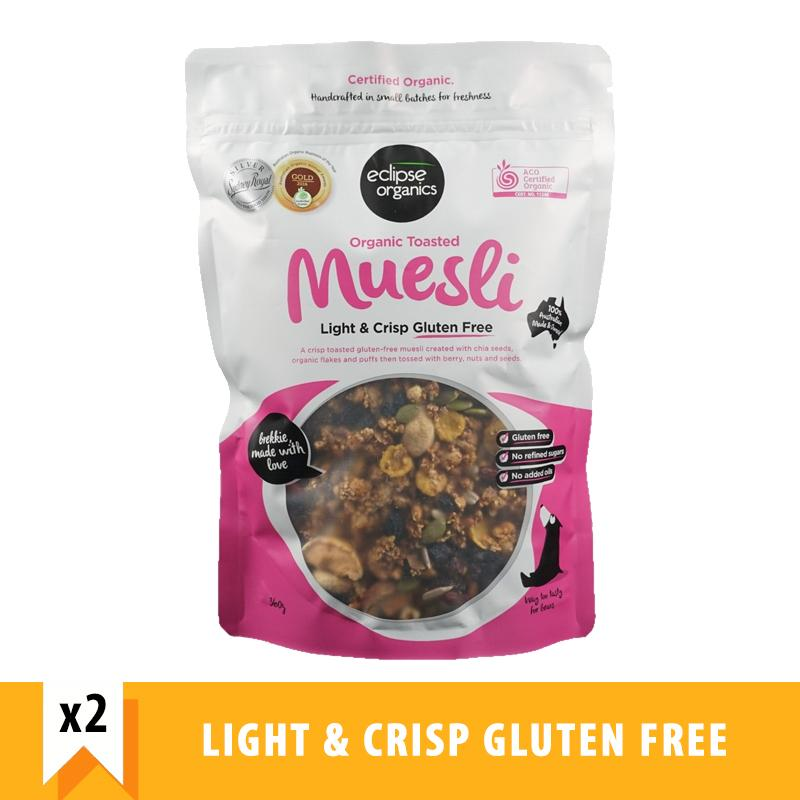 Eclipse Organics Toasted Muesli Light & Crisp Gluten Free (360g X 2) By Forever Young Sg.