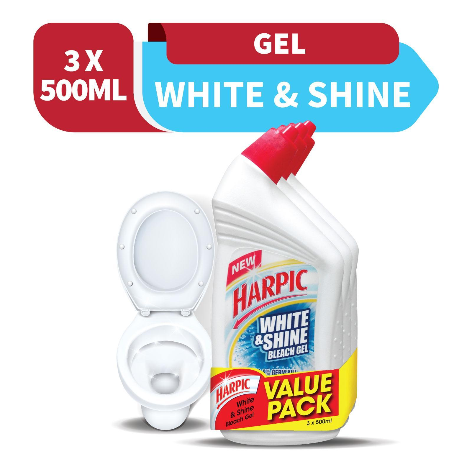 Harpic White and Shine Active Cleaning Gel Triple Pack