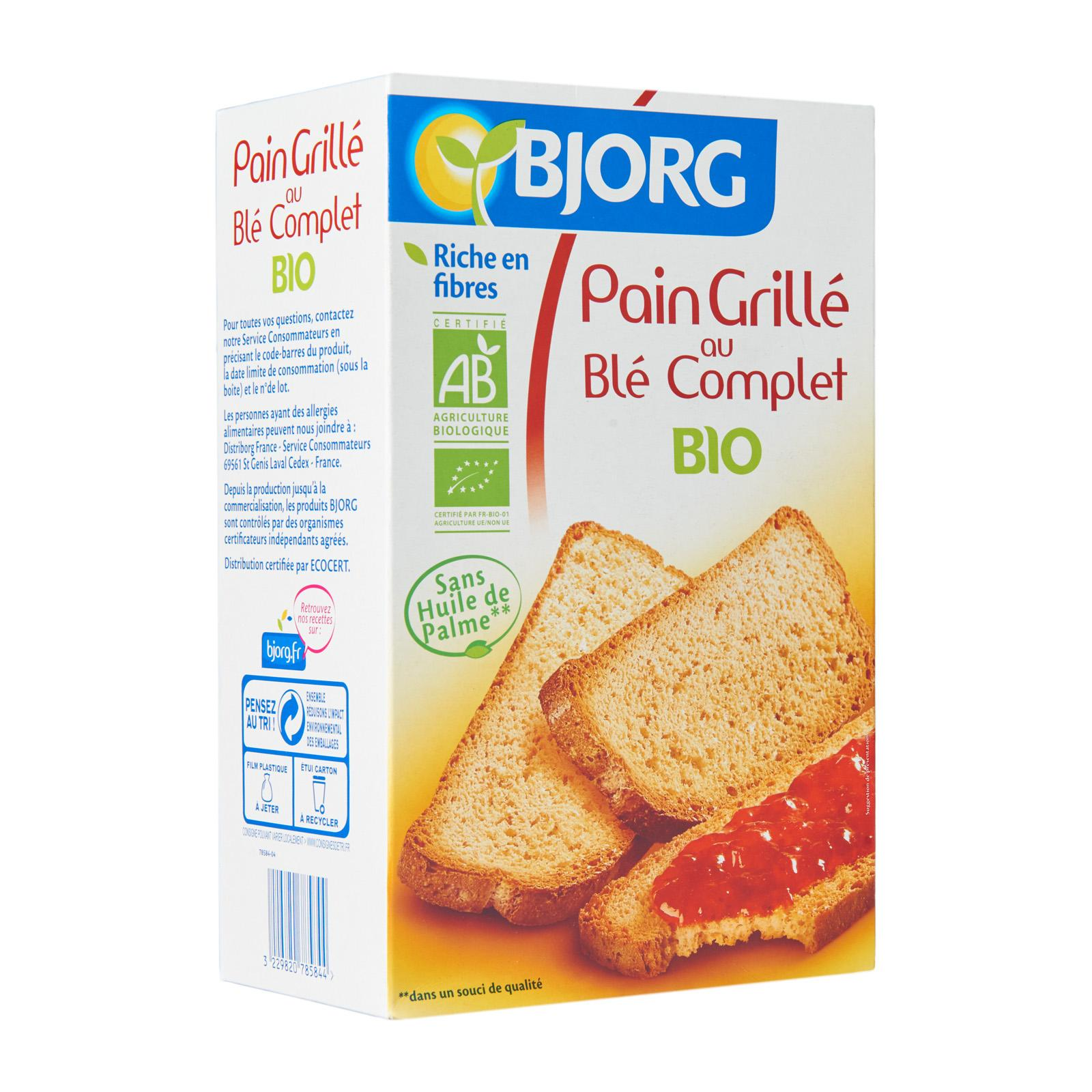 Bjorg Organic Wholewheat Toasted Bread By Redmart