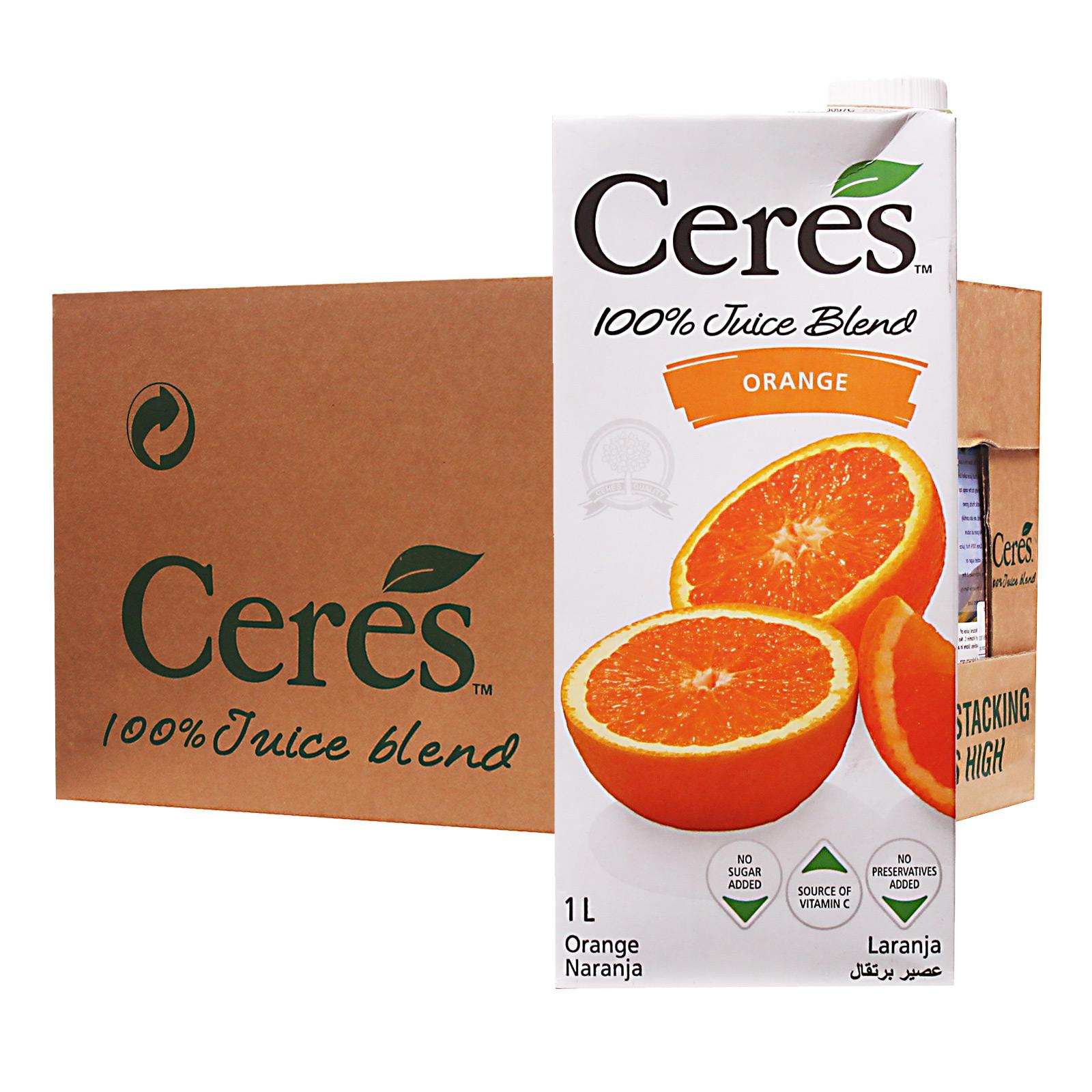 Ceres Orange 100% Juice - Case