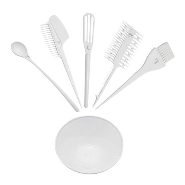 Professional 6Pcs/1 Set Hair Dye Kit DIY Salon Hair Color Brush and Bowl Set Hairdresser Dye Hair Tool giá rẻ