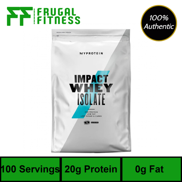 Buy Myprotein Impact Whey Isolate Protein 2.5kg [Various Flavors] Singapore
