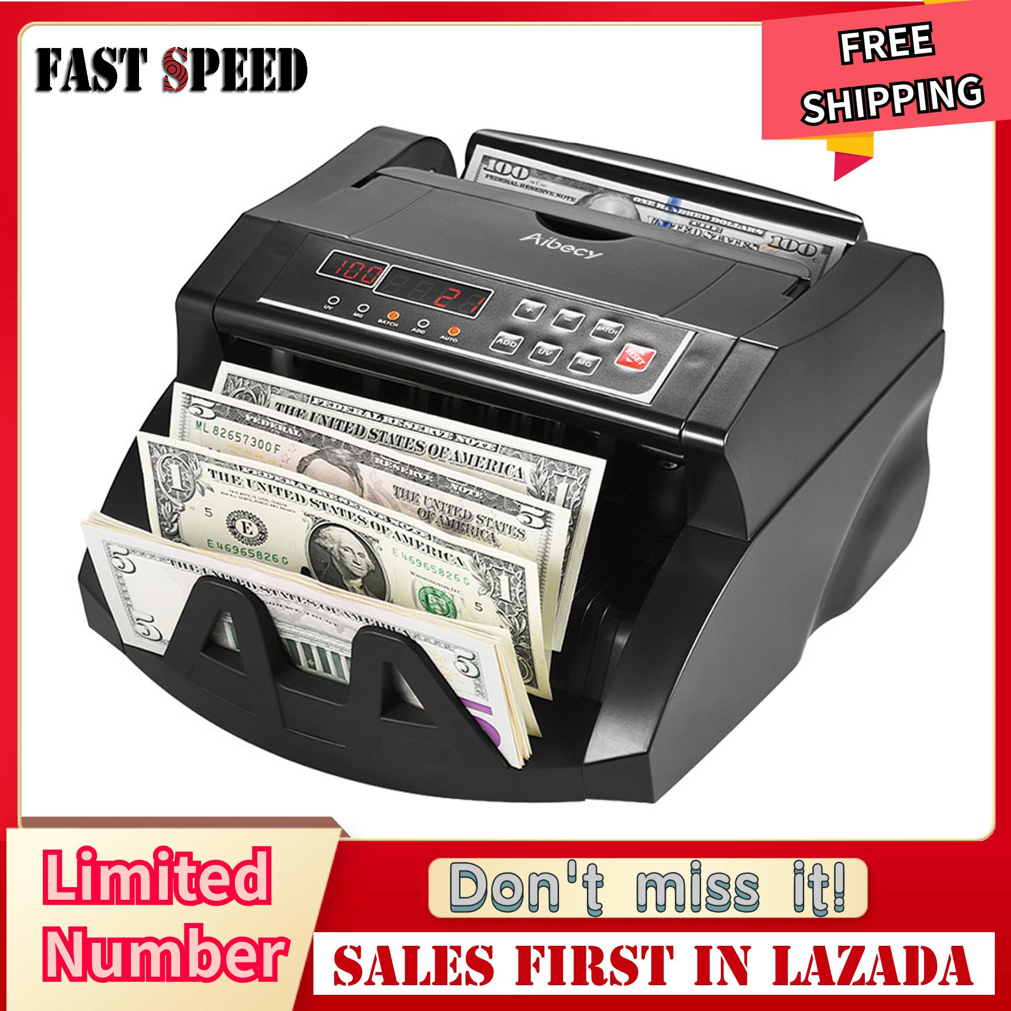 Aibecy Multi-Currency Banknote Counter Cash Money Bill Automatic Counting Machine Ir/dd Detect Lcd Display For Sgd Us Dollar Euro Pound Aud Hkd - Intl By Koko Shopping Mall.