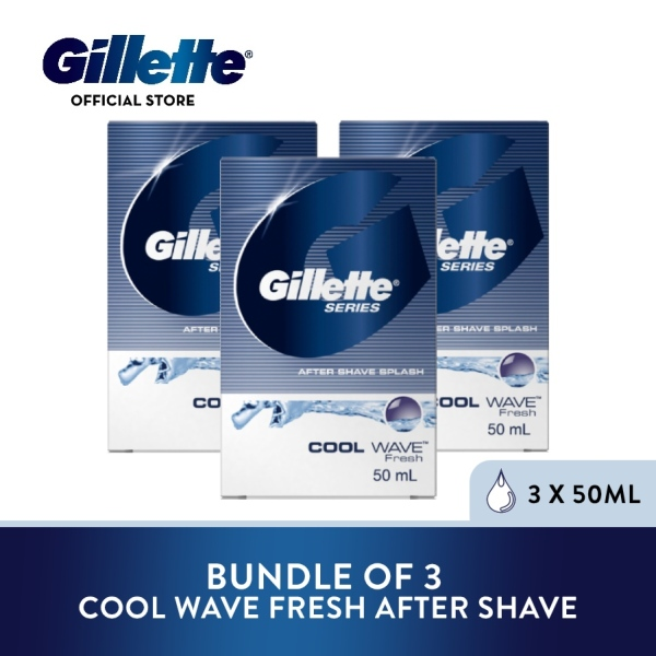 Buy [Bundle of 3] Gillette Series Cool Wave Fresh After Shave Splash 50ml Singapore