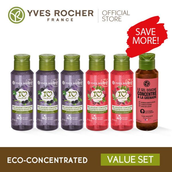 Buy Yves Rocher Eco Concentrated Shower Gel Box 6 X 100ML Singapore