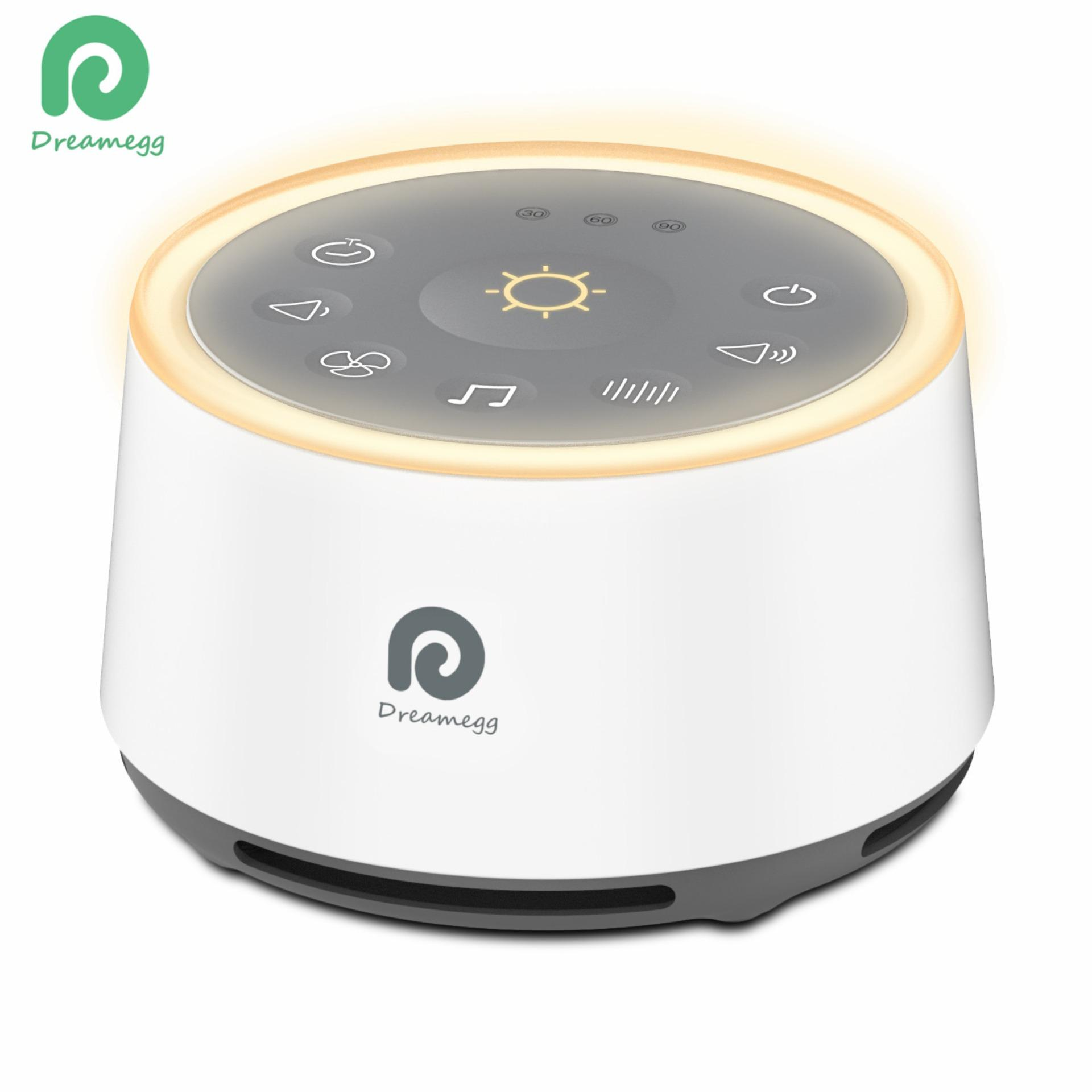 Dreamegg White Noise Sound Machine with Baby Soothing Night Light High Fidelity Fan Sound Relaxing Nature Sounds Office Privacy Keeper Timer & Memory Function Sleep Therapy HFD-W02