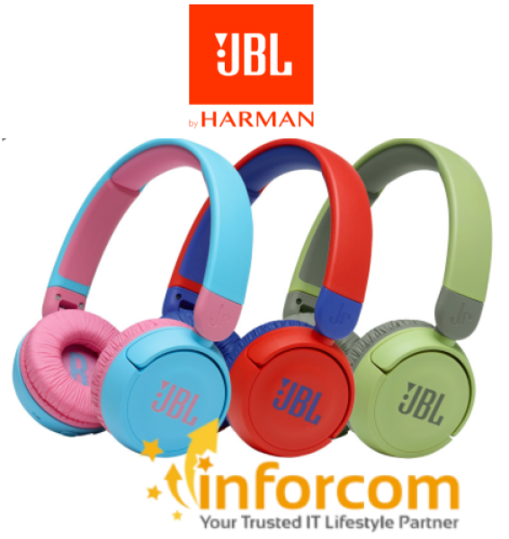 【NEW ARRIVAL】JBL JR310BT Kid Wireless Bluetooth with Mic, with Safe Sound Ultra Portable On-ear Headphone Children Students Learning Protection Hearing || Other Choices JR 310 JR310 JR300BT JR300 BT Headsets Singapore
