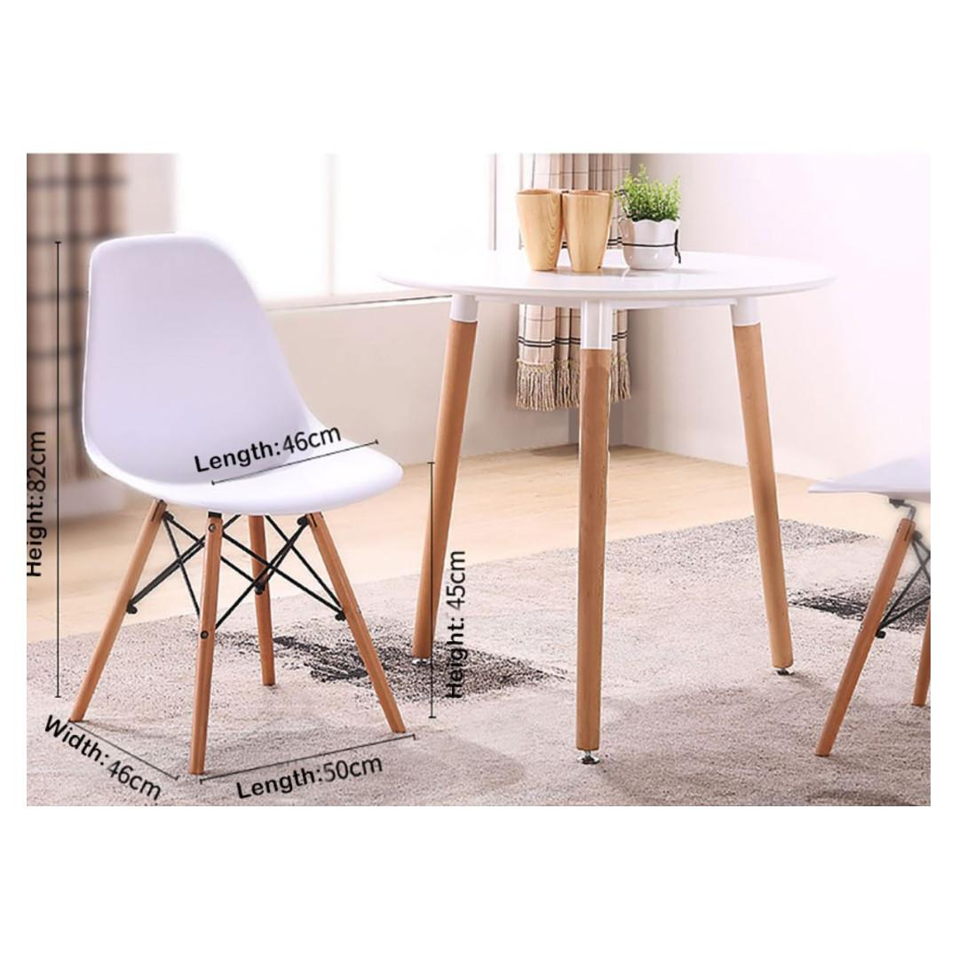 Nordic style white wooden dining tables and chairs set 1 Year Warranty