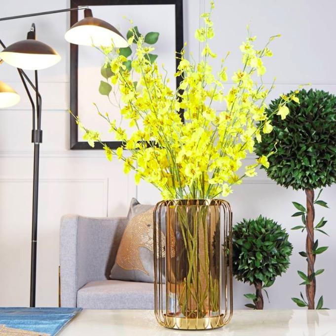 AUMNIA Gold Translucent Vase
