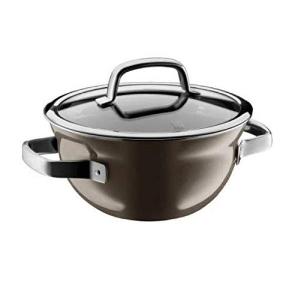 WMF Fusiontec 24cm Kitchen Casserole Cooking Bowl Stock Pot Dark Brass, Brown Singapore