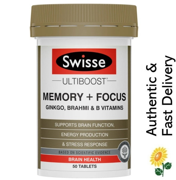 Buy [SG] Swisse Ultiboost Memory + Focus 50 Tablets [for 25 days supply] Singapore