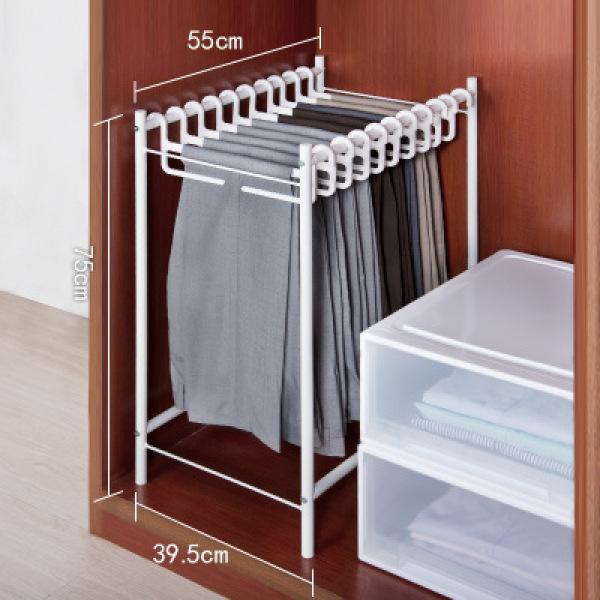 Trousers Rack Cloakroom removable trousers rack wardrobe storage hanger suits pants hook rack