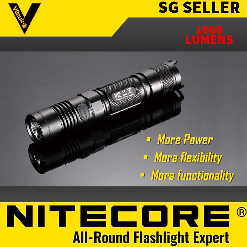 NITECORE P12 WATERPROOF TACTICAL LED FLASHLIGHT MILITARY GRADE FOR ANY OUTDOORS 1000 LUMENS