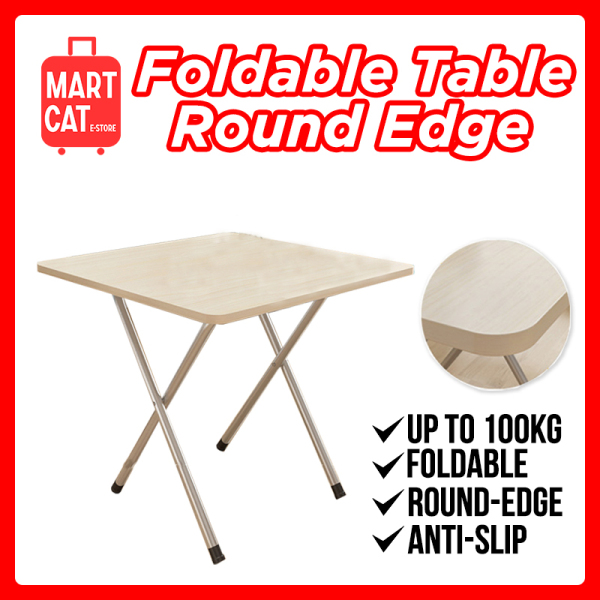 [MARTCAT] Foldable Table with Round Edges 60x60x72