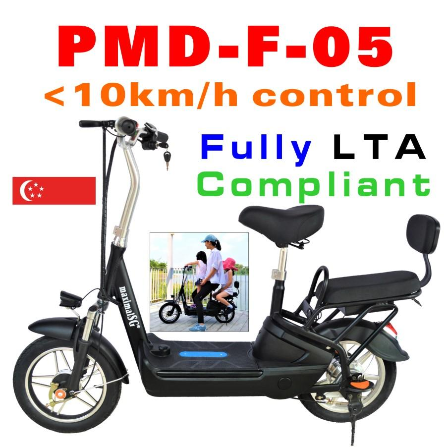 Fully Lta Compliant 14inch Tyre With 2 Seats Lithium Electric Scooter Speed Control E-Scooter Escooter By Maximalsg.