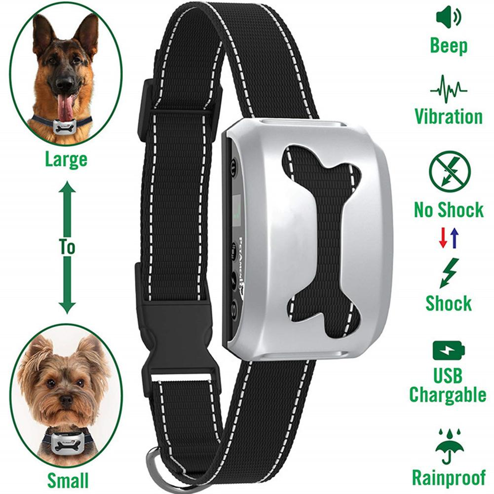Waterproof Electric Charging Shock Training Collar Anti Barking Device for  Pet Dogs