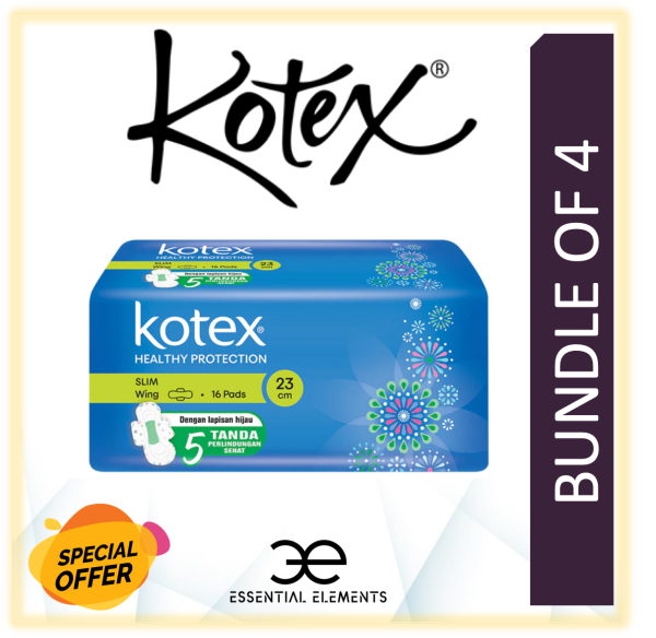 Buy KOTEX [BUNDLE OF 4] SANITARY PAD SLIM WING 23cm Singapore