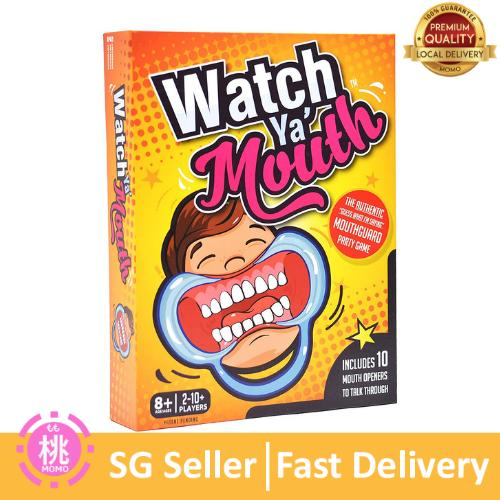 Watch Ya Mouth Family Edition - The Hilarious, Mouthguard Party Card Game,  Top Selling Award Winning Game