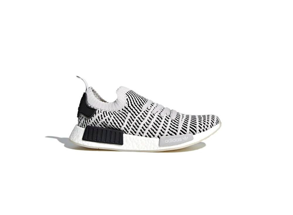 e3365a8380681d adidas Originals NMD R1 STLT Primeknit Mens CQ2387 Grey   Grey   Core Black