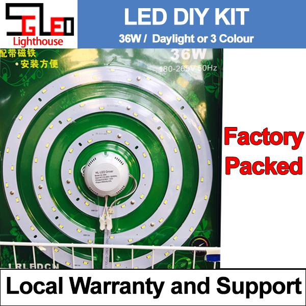 36W LED replacement kit / Round / Daylight (6500k) / Warmwhite(3000K) /3 Colour / 316mm