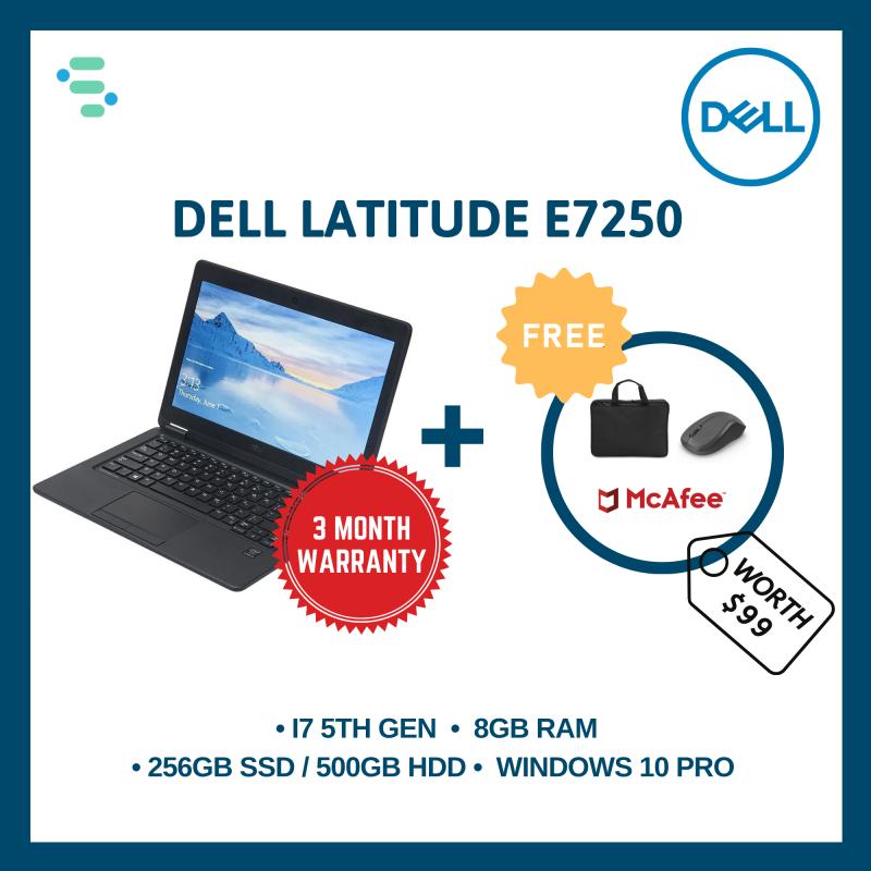 Dell Latitude E7250 | 12.5 | Intel Core i7-5600U 5TH Gen | 8GB Ram | 500GB HDD / 256GB SSD | FREE Laptop Bag + Wireless Mouse + Anti-Virus