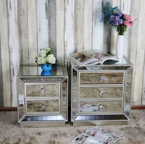 [PRE-ORDER] DELUCA Victorian Mirrored Bedside Table