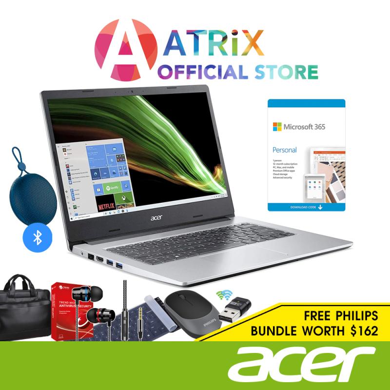 【Free BT Speaker】Acer Aspire 1 A114-33-C1Y7 | 14inch FHD 1920x1080 | Intel Celeron | 4GB DDR4 | 64GB eMMc | Win10 Home in S Mode | 1Y Acer Warranty