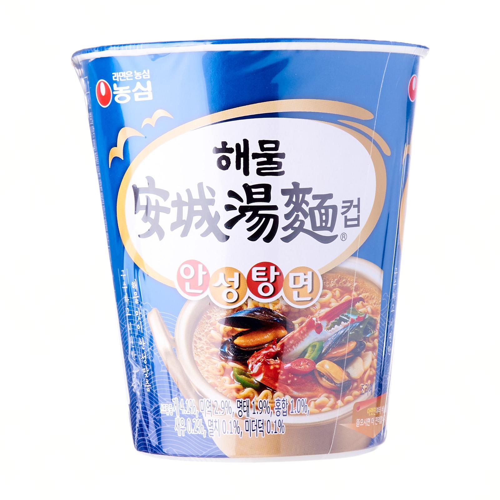 Nongshim Korean Ansungtangmyun Seafood Ramen Noodles Cup