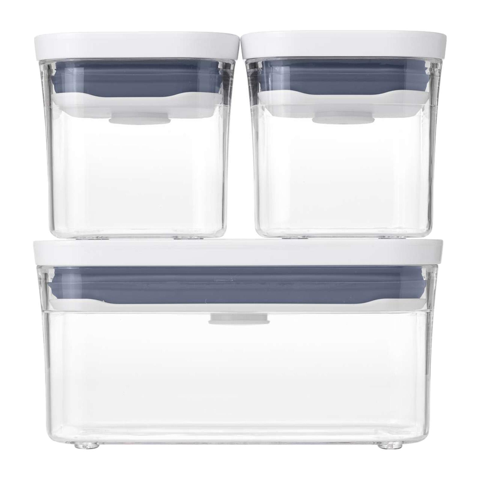 Oxo Good Grips 3 PCS Pop Container 0.2L X2 And 0.4L