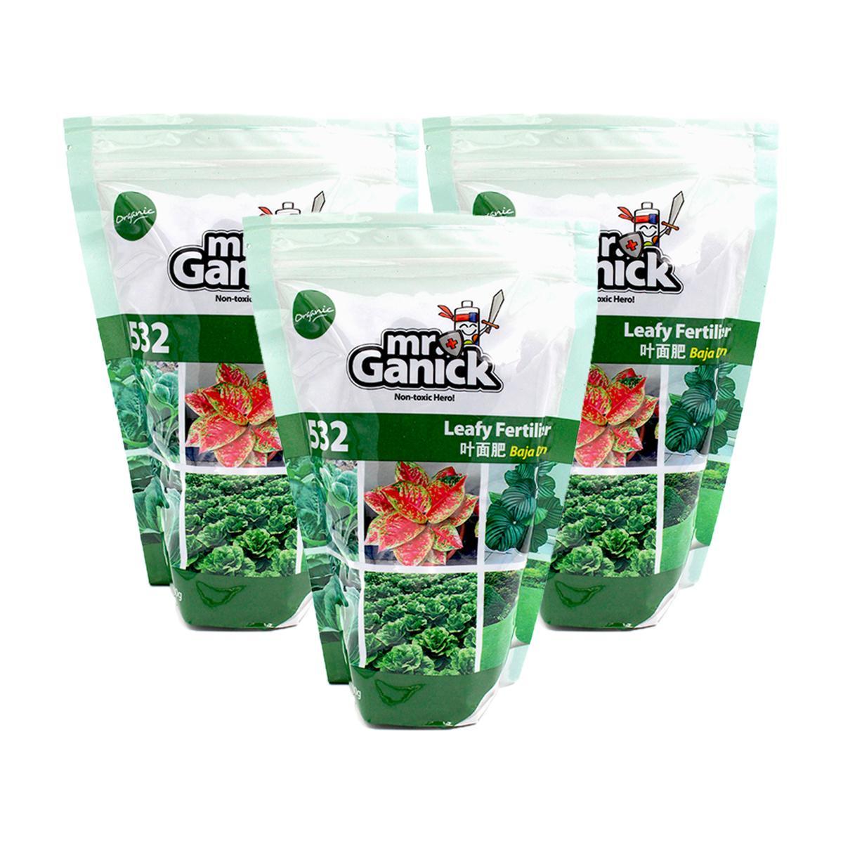 [BUNDLE OF 3] Baba Mr Ganick 532 Leafy Fertilizer (400 G)
