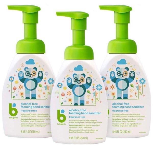 Buy Babyganics Hand Sanitizer 250ml x Bundle of 3 | Fragrance & Alcohol Free | Safe For Babies & Kids | Foam Formulation | US Product Singapore